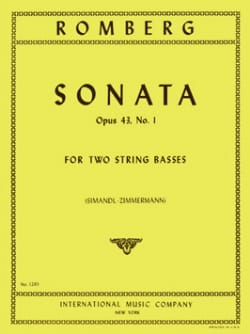Sonate op. 43 n° 1 - 2 String Basses ROMBERG Partition laflutedepan