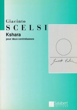 Kshara - Giacinto Scelsi - Partition - Contrebasse - laflutedepan.com