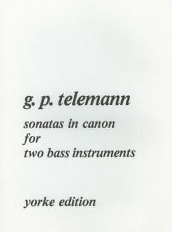Sonatas in Canon TELEMANN Partition Contrebasse - laflutedepan