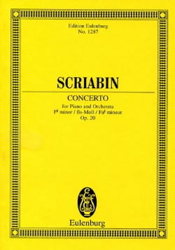 Alexandre Scriabine - Klavier-Konzert Fis-Moll, Op. 20 - Conductor - Sheet Music - di-arezzo.com