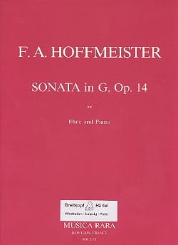 Franz Anton Hoffmeister - Sonata in G major op. 14 - Flute piano - Partition - di-arezzo.fr