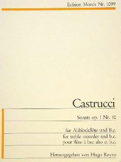 Pietro Castrucci - Sonate op. 1 n° 10 - Altblockflöte u. Bc - Partition - di-arezzo.fr