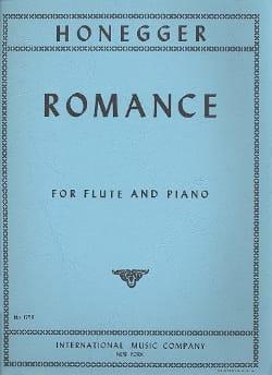 Arthur Honegger - Romance - Flûte et piano - Partition - di-arezzo.fr