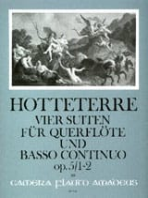 Jacques Martin Hotteterre - 4 Suiten op. 5 - Bd. 1 : Nr. 1-2 - Flöte u. Bc - Partition - di-arezzo.fr