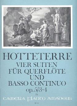 Jacques Martin Hotteterre - 4 Suiten, op. 5 - Bd. 2 : Nr. 3-4 - Flöte u. Bc - Partition - di-arezzo.fr