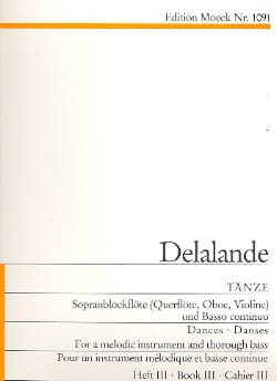 Tänze - Heft 3 - Michel-Richard Delalande - laflutedepan.com