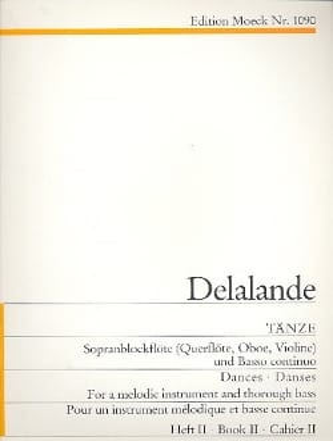 Michel-Richard Delalande - Tänze - Heft 2 - Partition - di-arezzo.fr