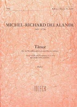 Tänze - Heft 1 Michel-Richard Delalande Partition laflutedepan