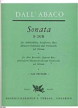 Evaristo Felice Dall'Abaco - Sonata B-Dur – Altblockflöte u. Bc - Partition - di-arezzo.fr