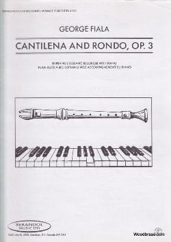 George Fiala - Cantilena and Rondo op. 3 - Sheet Music - di-arezzo.co.uk