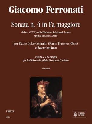 Giacomo Ferronati - Sonata in fa maggiore - Partition - di-arezzo.fr