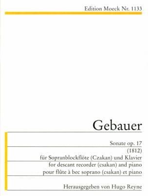 Sonate op. 17 (1812) -Sopranblockflöte Klavier - laflutedepan.com