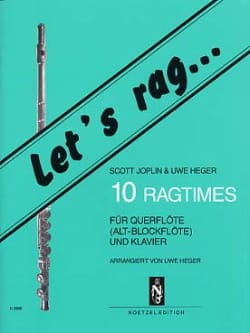 10 Ragtimes - Flöte o. Blockflöte Klavier laflutedepan