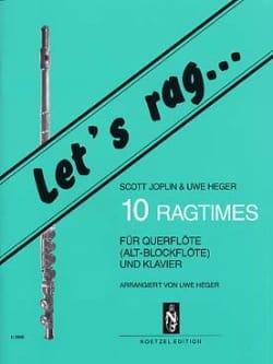 Joplin Scott / Heger Uwe - 10 Ragtimes - Flöte o. Blockflöte Klavier - Partitura - di-arezzo.es