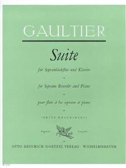 Pierre (de Marseille) Gaultier - Suite - Sopranblockflöte Klavier - Partition - di-arezzo.fr