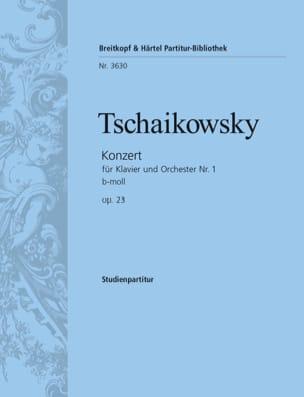 Piotr Illitch Tchaikovski - Concerto Piano et Orch. N°1 Op.23 Si Min. - Conducteur - Partition - di-arezzo.fr