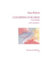 Concertino for oboe Alan Ridout Partition Hautbois - laflutedepan