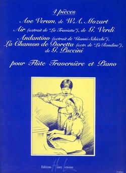 4 Pièces pour flûte traversière et piano - laflutedepan.com