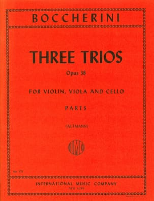 3 Trios op. 38 -Parts BOCCHERINI Partition Trios - laflutedepan