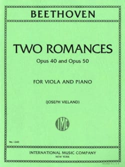 Ludwig van Beethoven - 2 Romances op. 40 and op. 50 – Viola - Partition - di-arezzo.fr