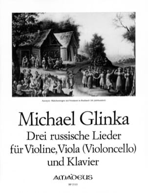 Michail Glinka - 3 Russische Lieder - Sheet Music - di-arezzo.co.uk