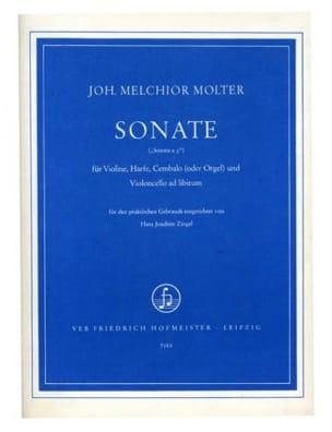 Johann Melchior Molter - Sonate –Violine, Harfe, Cembalo (o. Orgel) - Partition - di-arezzo.fr