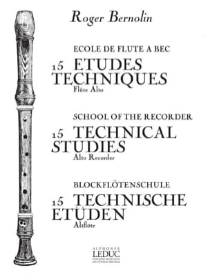 Roger Bernolin - 15 Etudes techniques - Partition - di-arezzo.fr