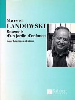 Marcel Landowski - Souvenir d'un Jardin d'Enfance - Hautbois et Piano - Partition - di-arezzo.fr