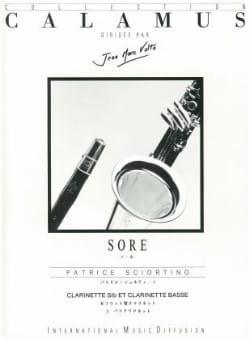 Sore - Patrice Sciortino - Partition - Clarinette - laflutedepan.com