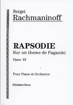 Rapsodie sur un thème de Paganini op. 43 - Score - laflutedepan.com