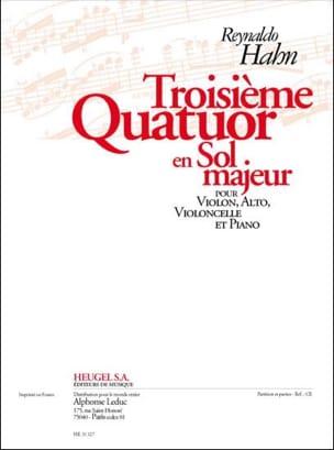 Reynaldo Hahn - Cuarteto No. 3 en sol mayor - Partes - Partitura - di-arezzo.es