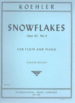 Snowflakes op. 82 n° 4 - Ernesto KÖHLER - Partition - laflutedepan.com