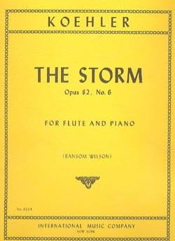 The Storm op. 82 n° 6 - Flute piano - laflutedepan.com