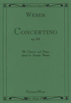 Carl Maria von Weber - Concertino op. 26 –Clarinette piano - Partition - di-arezzo.fr