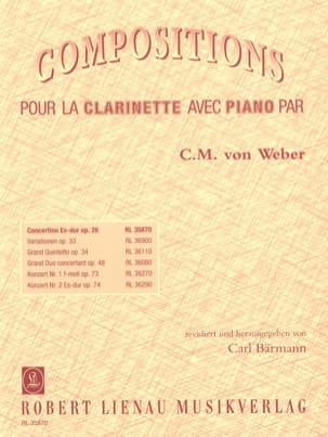 Carl Maria von Weber - Concertino Es-Dur op. 26 - Klarinette Klavier - Sheet Music - di-arezzo.co.uk