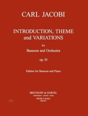 Carl Jacobi - Introduction, Thème et variations op. 10 - Partition - di-arezzo.fr