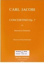 Carl Jacobi - Concertino op. 7 - Partition - di-arezzo.fr