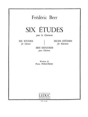 Friedrich Berr - 6 Etudes - Clarinette - Partition - di-arezzo.fr
