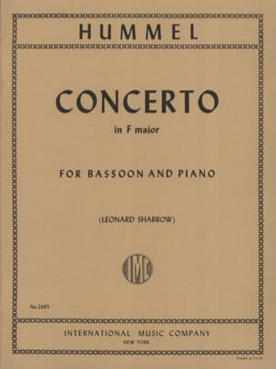Concerto in F major - Bassoon piano HUMMEL Partition laflutedepan