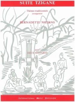 Suite tzigane Bernadette Nicolas Partition Guitare - laflutedepan