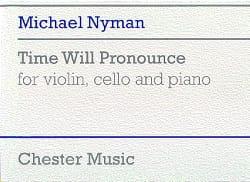 Michael Nyman - Time Will Pronounce - Partition - di-arezzo.fr
