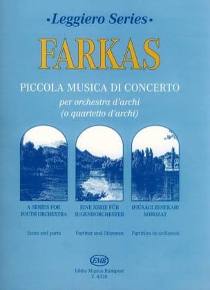 Ferenc Farkas - Piccola Musica Di Concerto - Partition - di-arezzo.fr