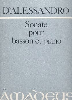Raffaele d' Allessandro - Sonata - Bassoon and Piano - Sheet Music - di-arezzo.com