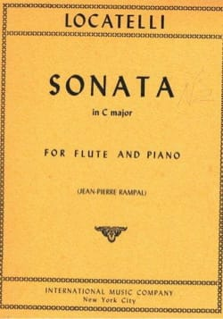 Sonata In C Major LOCATELLI Partition Flûte traversière - laflutedepan