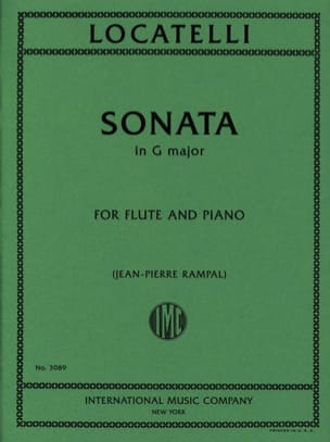 Sonata in G major - Flute piano LOCATELLI Partition laflutedepan
