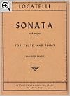 Sonata in A major - Flute piano LOCATELLI Partition laflutedepan
