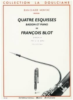 François Blot - Quatre Esquisses - Partition - di-arezzo.fr