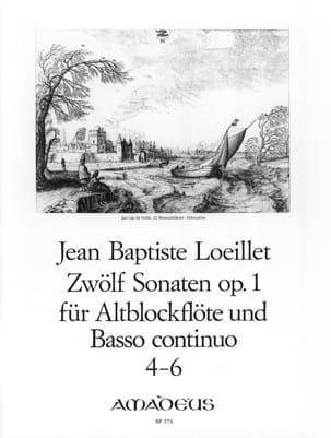 de Gant Jean Baptiste Loeillet - 12 Sonaten op. 1 - No. 4-6 - Altblockflöte u. Bc - Sheet Music - di-arezzo.co.uk