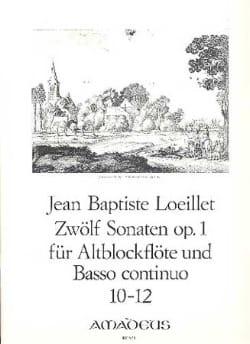 12 Sonaten op. 1 - n° 10-12 -Altblockflöte u. Bc - laflutedepan.com