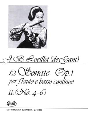 12 Sonates op. 1 - Volume 2 : n° 4-6 - Flauto e BC - laflutedepan.com